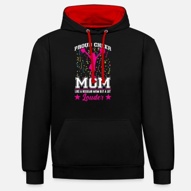 Mom Cheerleading Mom Family Girls Cheerleaders - Unisex Contrast Hoodie