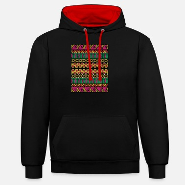 Abstract Art - Global Nomad - Unisex Contrast Hoodie
