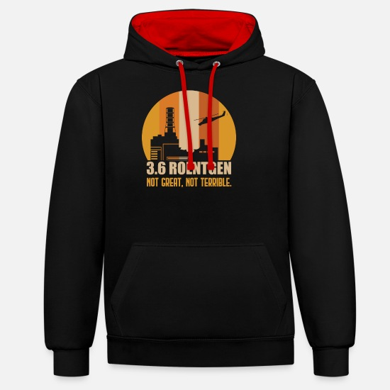 Gift Idea Hoodies & Sweatshirts - Chernobyl reactor - Unisex Contrast Hoodie black/red