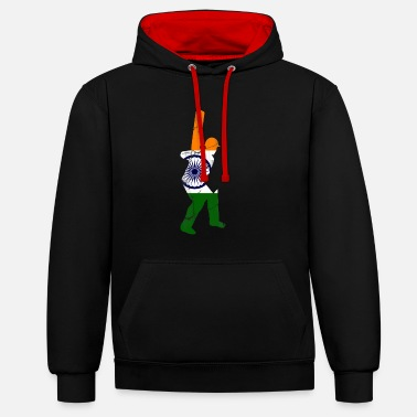 India Cricket cricket player gift India - Unisex Contrast Hoodie