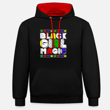 Afrocentricity Black History Month Afrocentric Pride - Unisex Contrast Hoodie