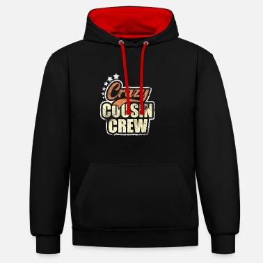 Crazy Folle cugino Crew Family Reunion Vacation - Felpa con cappuccio bicolore unisex