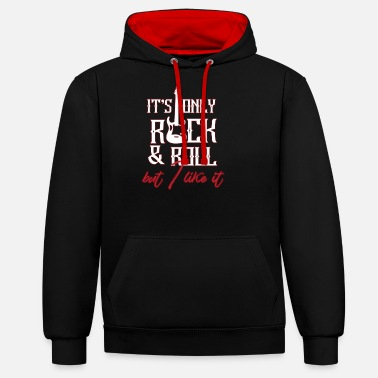 Roll Rock and roll - Unisex Contrast Hoodie