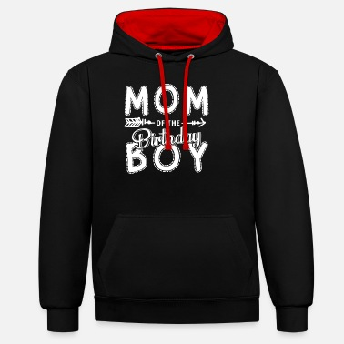Look Mom Mother Of The Birthday Girl Partner Look Mom Shirt - Unisex Contrast Hoodie