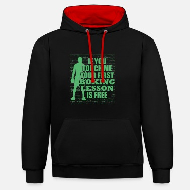 Match Boxer Boxing Coach Boxing Glove Boxing Boxing match - Unisex Contrast Hoodie