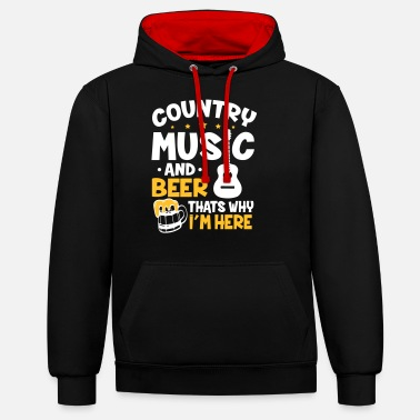 Country Country Music And Beer - Unisex Hoodie zweifarbig