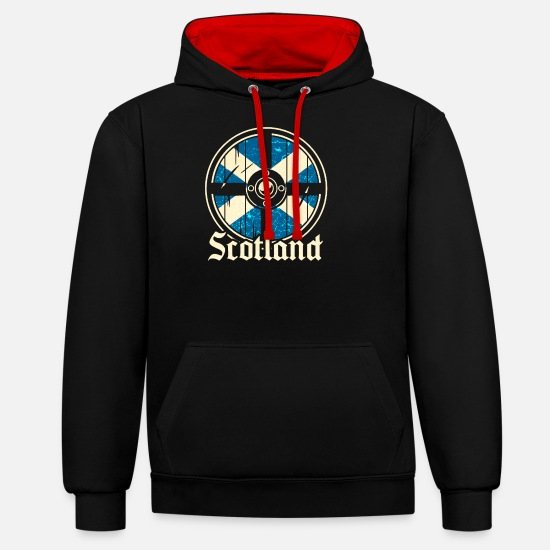 Scotland Hoodies & Sweatshirts - Scotland - Unisex Contrast Hoodie black/red