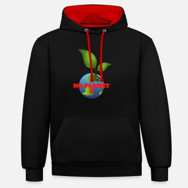 Protection No Planet B - Unisex Contrast Hoodie
