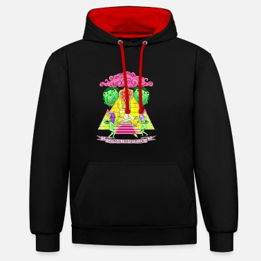 Rick And Morty Pyramid With Catchphrase - Unisex kontrast hettegenser