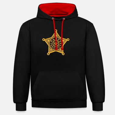 Sheriff Party Sheriff (ster) - Unisex contrast hoodie