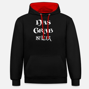 Grave The grave is empty - Unisex Contrast Hoodie
