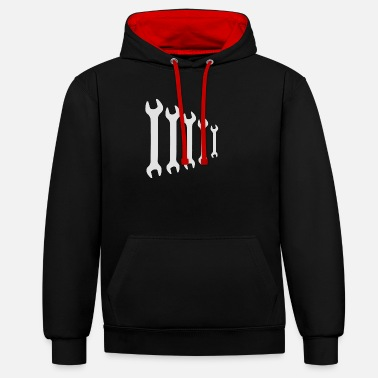 Wrench Wrench fork wrench - Unisex Contrast Hoodie
