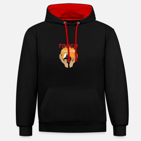 Heat Hoodies & Sweatshirts - Touch The Sun - Unisex Contrast Hoodie black/red