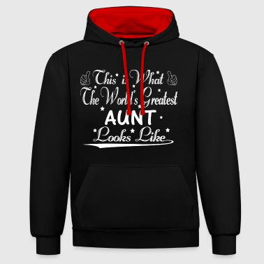 World's Greatest Aunt... - Contrast Colour Hoodie