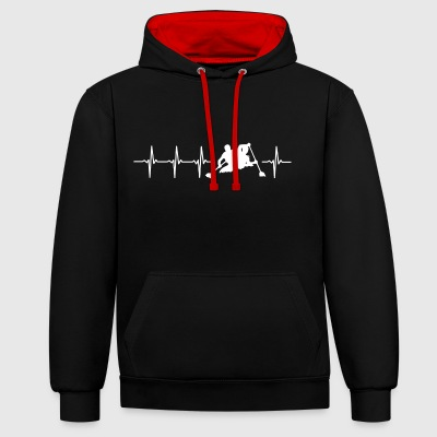 J'aime kayak (kayak heartbeat) - Sweat-shirt contraste