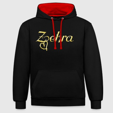Zehra name women first name gold - Contrast Colour Hoodie