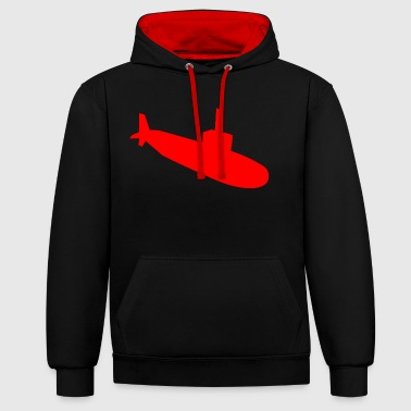 Submarine silhouette - Contrast Colour Hoodie