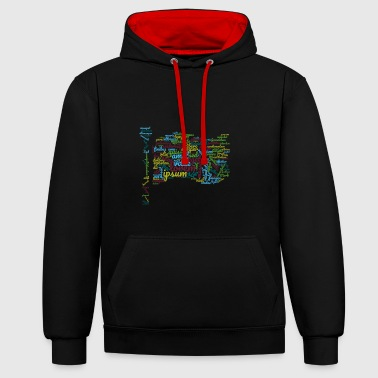 word typography - Contrast Colour Hoodie
