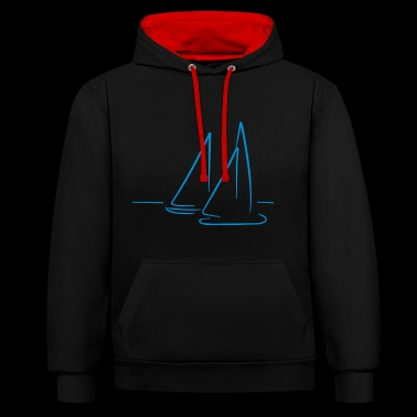 Sailing 2541614 12394569 - Contrast Colour Hoodie