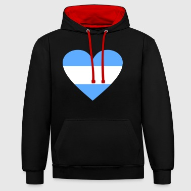 2541614 14655584 Argentina - Contrast Colour Hoodie