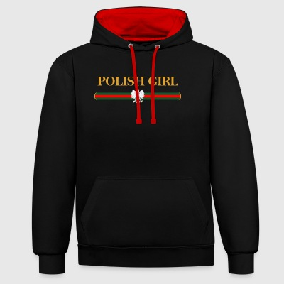 Polish Girl - Contrast Colour Hoodie