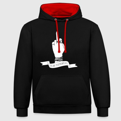 Dear Patriarchy - Contrast Colour Hoodie