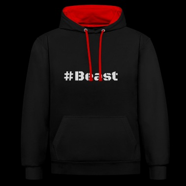Beast light - Contrast Colour Hoodie