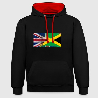 British Jamaican Half Jamaica Half UK Flag - Contrast Colour Hoodie