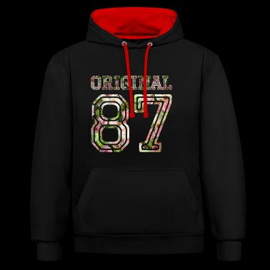 1987 - Contrast Colour Hoodie