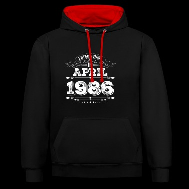 Established in April 1986 - Contrast Colour Hoodie
