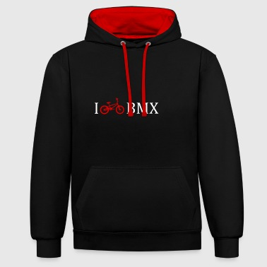 I love BMX bike gift idea teens - Contrast Colour Hoodie