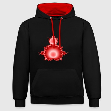 Red Apple - Contrast Colour Hoodie