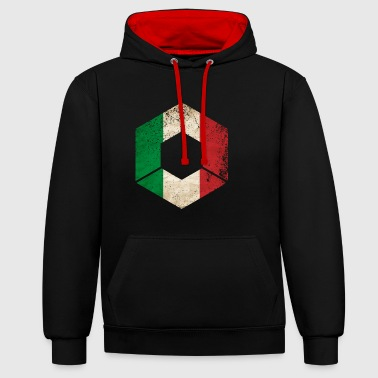HEXAGON ITALY GRUNGE - Contrast Colour Hoodie