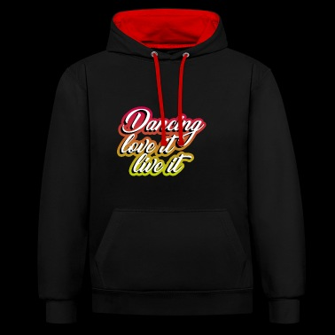 Dancing Dancer Dancer Gift Moving Hobby - Contrast Colour Hoodie