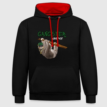 Gangster Napper Sloth Sloth Shirt - Contrast Colour Hoodie