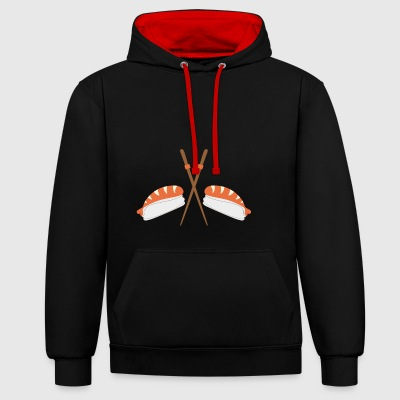 sushi - Contrast Colour Hoodie