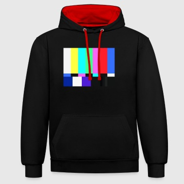 Test Card.Test Pattern. Rétro Television Crew.SALE - Sweat-shirt contraste