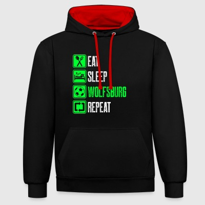 Repeat Wolfsburg - Contrast Colour Hoodie