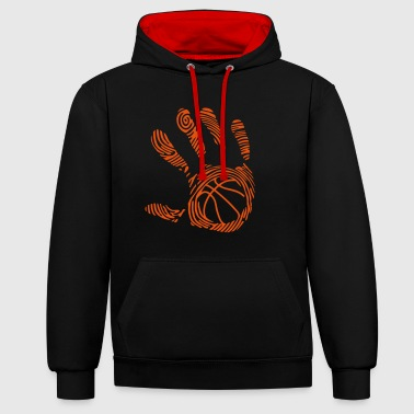 basketball 9 empreinte main hand ma - Sweat-shirt contraste