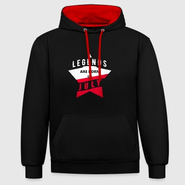 TShirt - Poland - Legend - July - Contrast Colour Hoodie