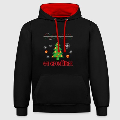 Geometry Ugly Christmas Sweater - Contrast Colour Hoodie
