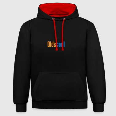 Oldscool gift for Old People - Contrast Colour Hoodie