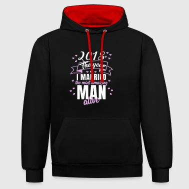 Wedding 2018 - Best Man - Contrast Colour Hoodie
