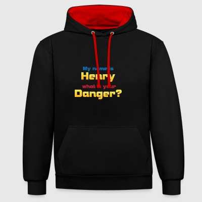 My name is Henry...? - Kontrast-Hoodie