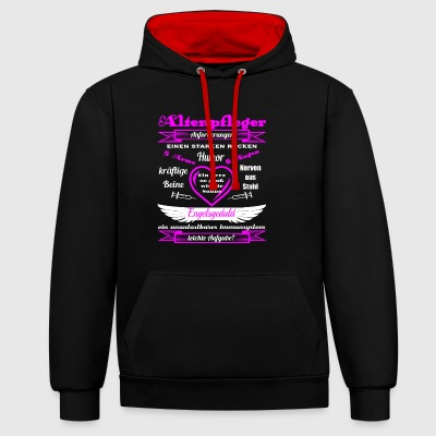 Senior attendant pink - Contrast Colour Hoodie