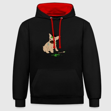 Artiste T-shirt Bulldog - Sweat-shirt contraste