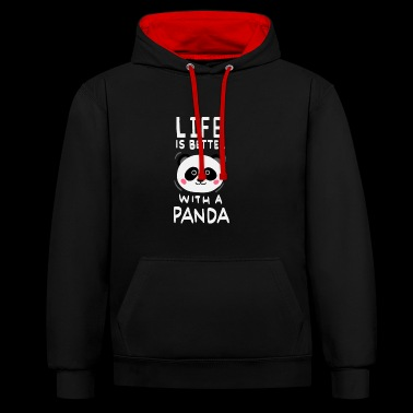 panda - Sweat-shirt contraste