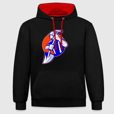 construction worker - Contrast Colour Hoodie