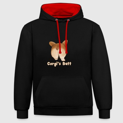 Corgi Butt - Sweat-shirt contraste