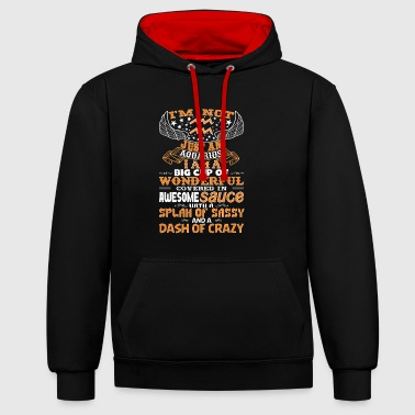 I'm not Just An Aquarius! - Contrast Colour Hoodie